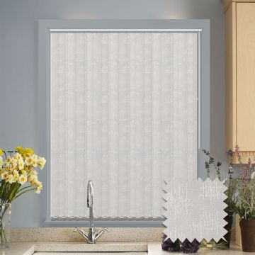 Vertical blinds - Made to Measure vertical blind in Kira White